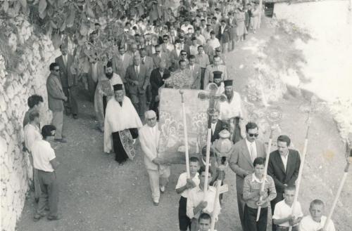 Περιφορά εικόνας Παναγίας τον 15αυγουστο