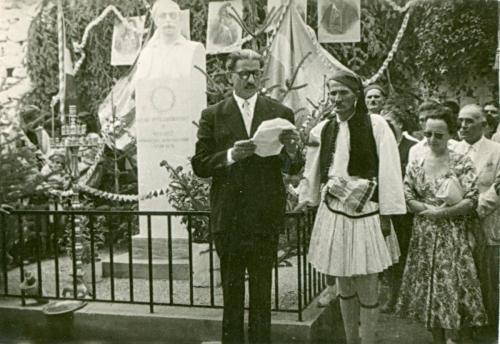 Τελετή αποκαλυπτήριων του αγάλματος Φωτάκου