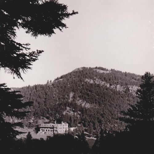 Το Σανατόριο από ψηλά τη Δεκαετία το 1960.